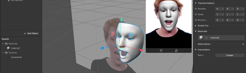 Creating a Face Tracking Effect in SparkAR