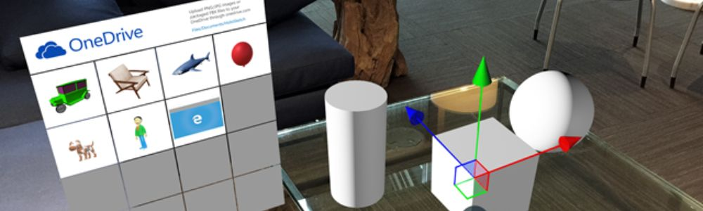 Case study gallery in Hololens