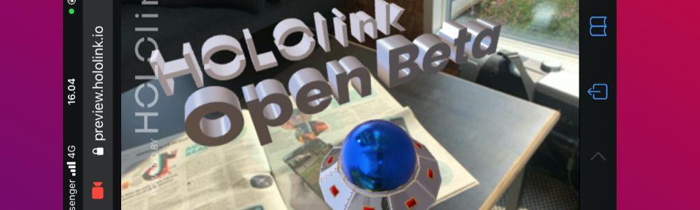 Hololink launched drag n drop WebAR platform