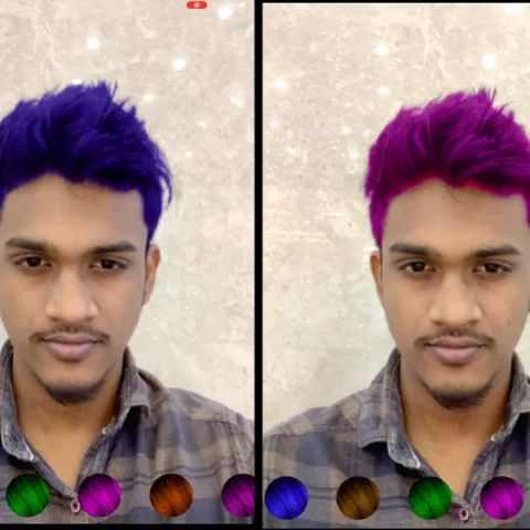 Augmented Reality hair colour try-on