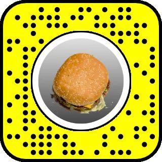 Burger Face AR lens