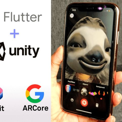 Flutter + Unity3D Augmented Reality