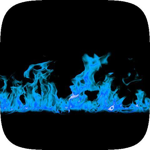 Blue Fire Instagram lens