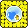 Heart soap bubble